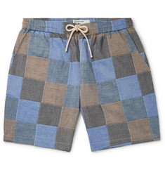 Universal Works Patchwork Slub Cotton Drawstring Shorts