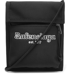 Balenciaga - Logo-Embroidered Canvas Messenger Bag