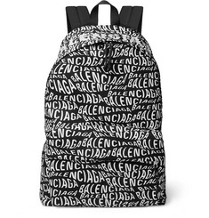 Balenciaga - Logo-Print Canvas Backpack