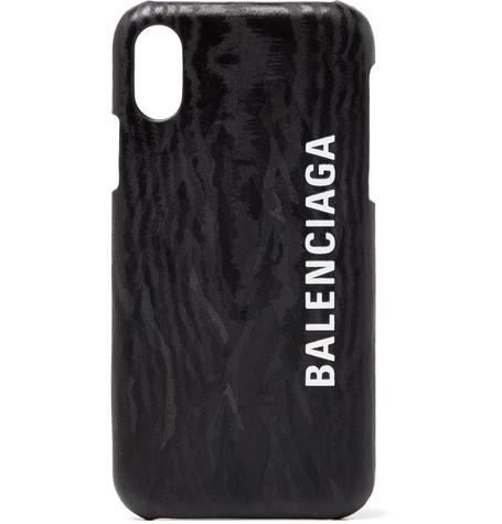 Balenciaga Logo-Print iPhone X Case