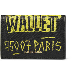 Balenciaga - Printed Full-Grain Leather Trifold Wallet