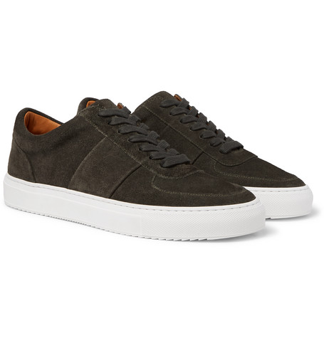 Mr P. Larry Suede Sneakers In Green