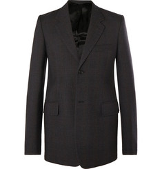 Balenciaga Dark-Grey Checked Virgin Wool Blazer