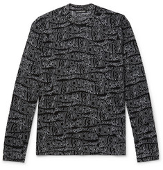 Balenciaga Logo-Intarsia Virgin Wool-Blend Sweater