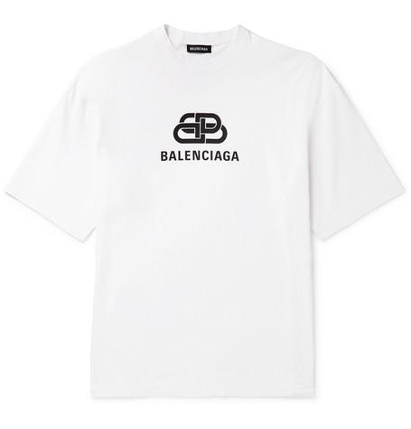 d9f7e27a Balenciaga - Logo-Print Cotton-Jersey T-Shirt