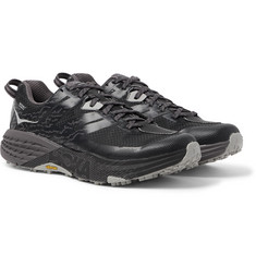 Hoka One One Speedgoat 3 Waterproof Rubber-Trimmed SKYSHELL Nylon-Ripstop Running Sneakers