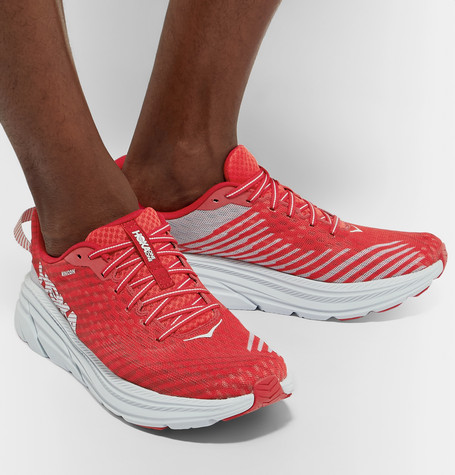 Hoka One One Rincon Mesh Running Sneakers In Red