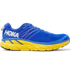 Hoka One One Clifton 6 Logo-Print Embroidered Mesh Running Sneakers