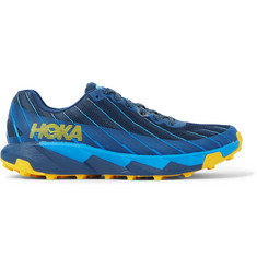 Hoka One One Torrent 1 Rubber-Trimmed Mesh Trail Running Sneakers
