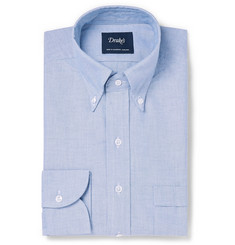 Drake's Light-Blue Easyday Slim-Fit Button-Down Collar Cotton Oxford Shirt