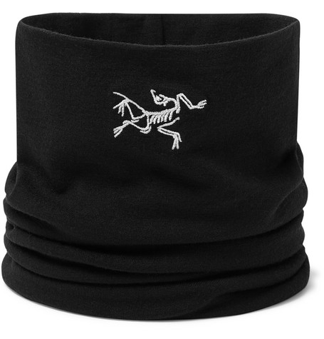 Rho Logo Embroidered Stretch Wool Neck Gaiter by Arc'teryx