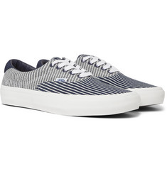 Vans Vans Vault 59 LX Suede-Trimmed Striped Denim Sneakers