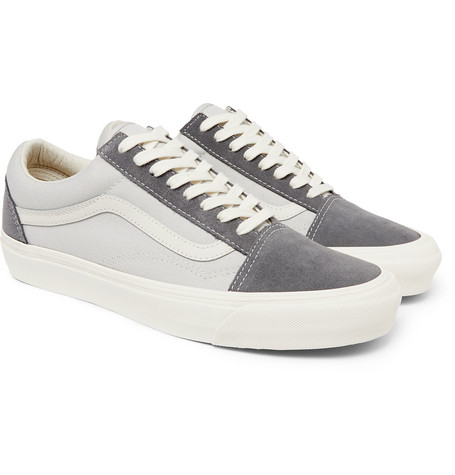 Vans Sneakers OG Old Skool LX Leather-Trimmed Suede and Canvas Sneakers