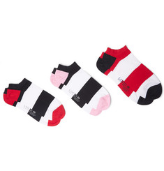 Corgi Three-Pack Striped Cotton-Blend No-Show Socks