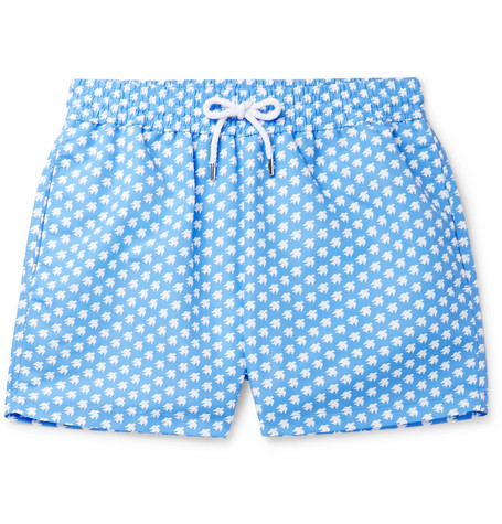 9129146b18 Frescobol Carioca - + Sant Ambroeus Printed Mid-Length Swim Shorts