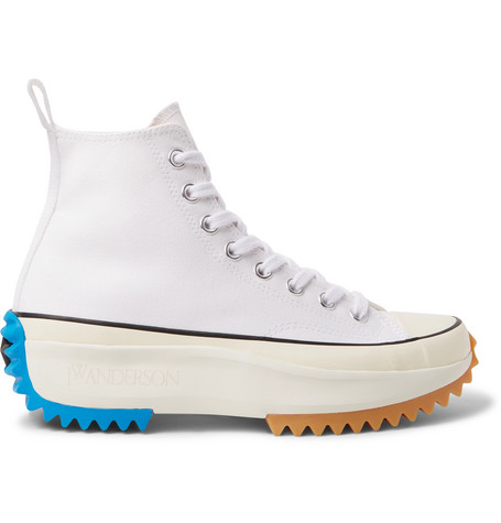 Converse Jw Anderson Run Star Hike Canvas High-Top Sneakers In White 7221b24f1
