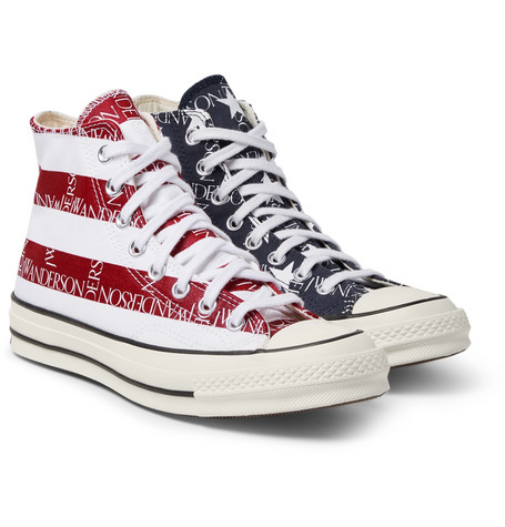 f149d148f226 Converse+ JW Anderson 1970s Chuck Taylor All Star Logo-Print Canvas  High-Top Sneakers