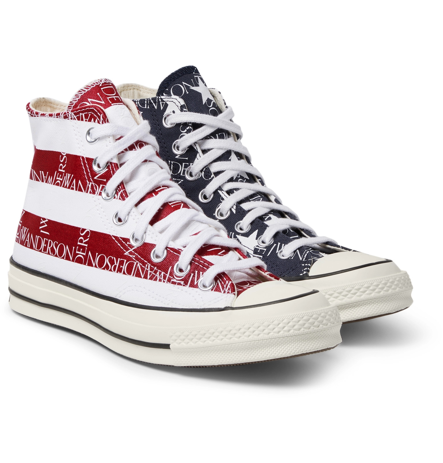 b5746bcb5478ab Converse+ JW Anderson 1970s Chuck Taylor All Star Logo-Print Canvas High-Top  Sneakers