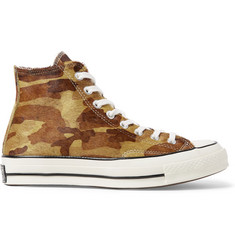 Converse 1970s Chuck Taylor All Star Camouflage-Print Calf Hair High-Top Sneakers