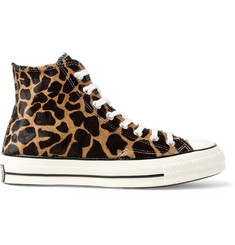 Converse 1970s Chuck Taylor All Star Giraffe-Print Calf Hair High-Top Sneakers