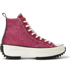 Converse + JW Anderson Run Star Hike Glittered Canvas High-Top Sneakers