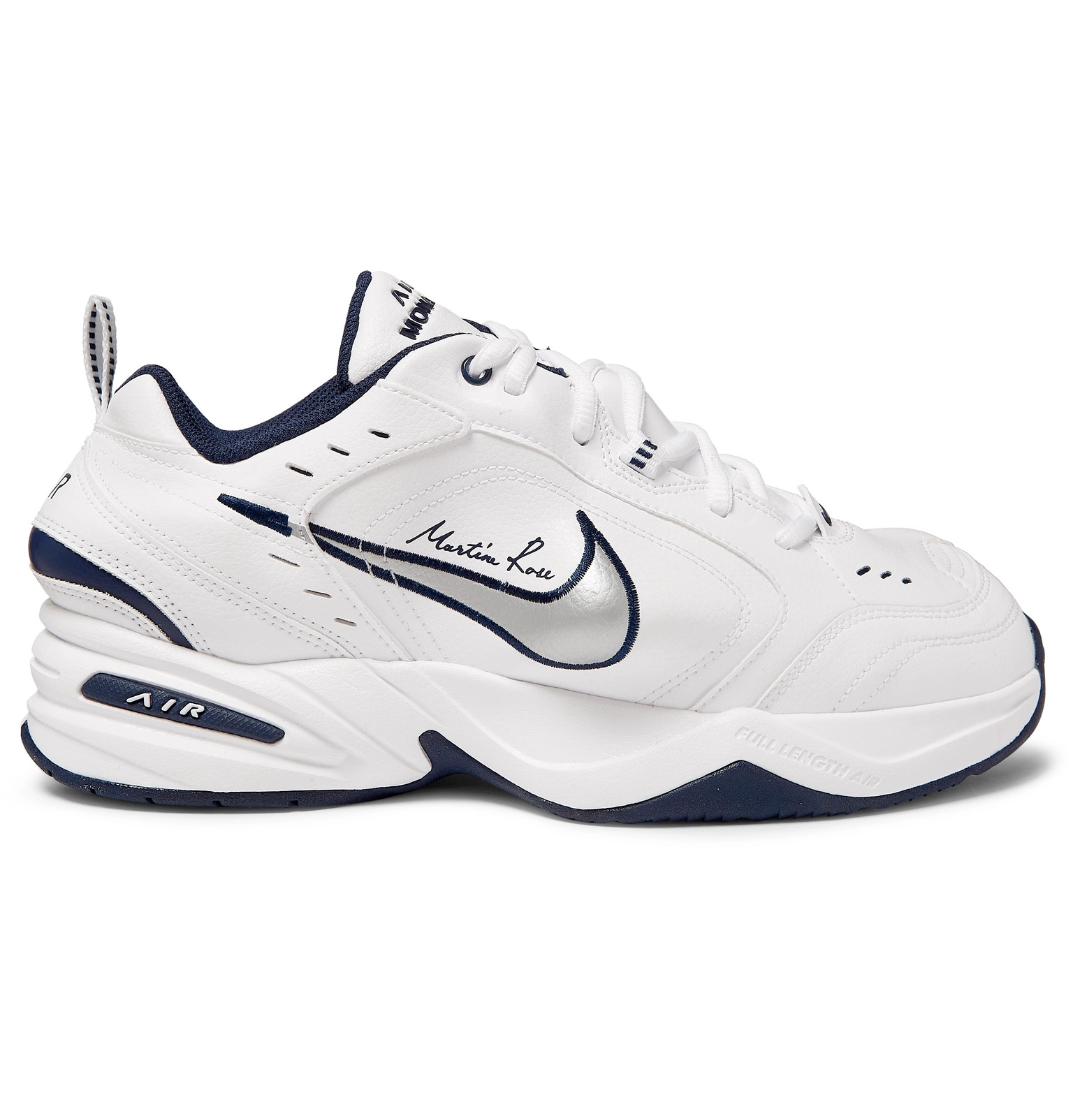 Nike - + Martine Rose Air Monarch IV Faux Leather Sneakers 12b7ded76