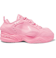 Nike + Martine Rose Air Monarch IV Faux Patent-Leather and PU Sneakers
