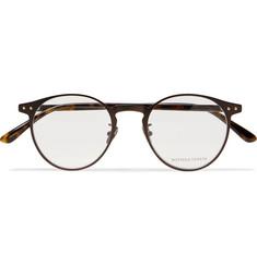Round-frame Metal And Tortoiseshell Acetate Optical Glasses - Tortoiseshell