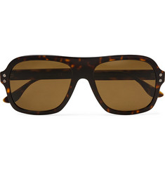 Bottega Veneta Aviator-Style Tortoiseshell Acetate and Gold-Tone Sunglasses