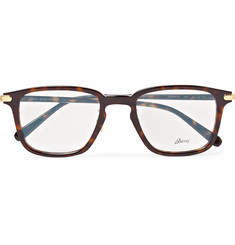 Brioni Square-Frame Acetate and Gold-Tone Optical Glasses
