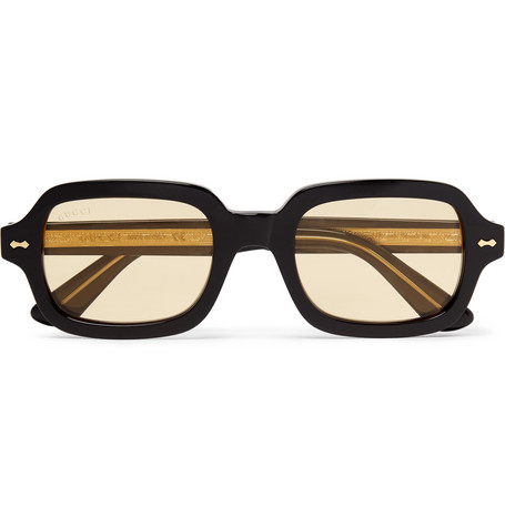 adeca8345be4 Gucci - Square-Frame Acetate and Gold-Tone Sunglasses