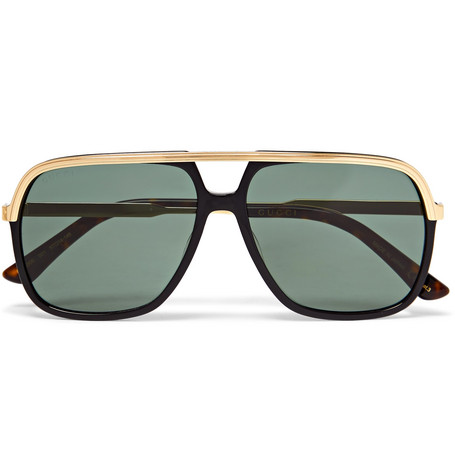 f18c7954e0f7 Gucci - Aviator-Style Acetate and Gold-Tone Sunglasses