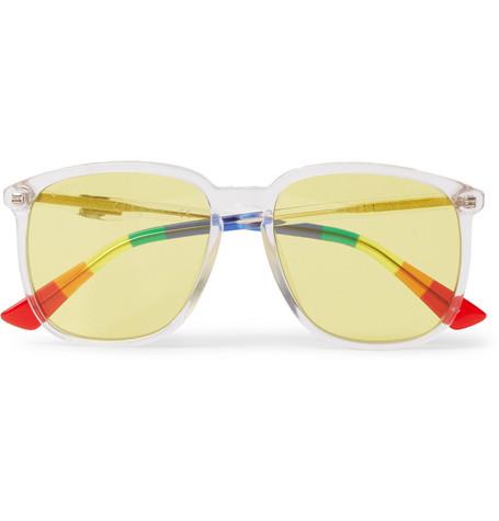 4a3db8177 Gucci - Square-Frame Acetate Sunglasses