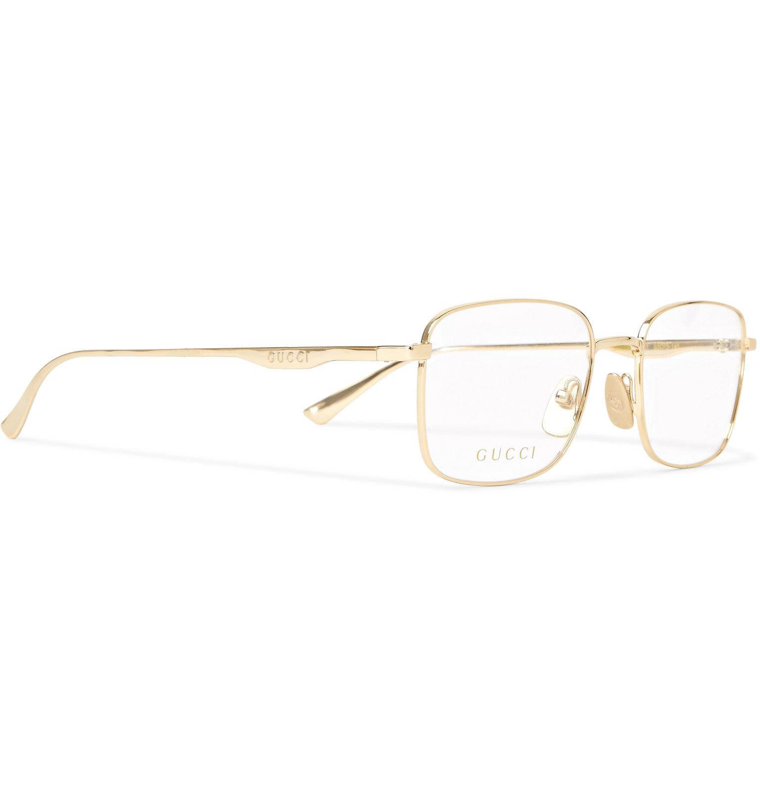 c986d3db12 Gucci - Square-Frame Gold-Tone Optical Glasses