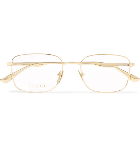 a530c6420a21d Gucci - Square-Frame Gold-Tone Optical Glasses