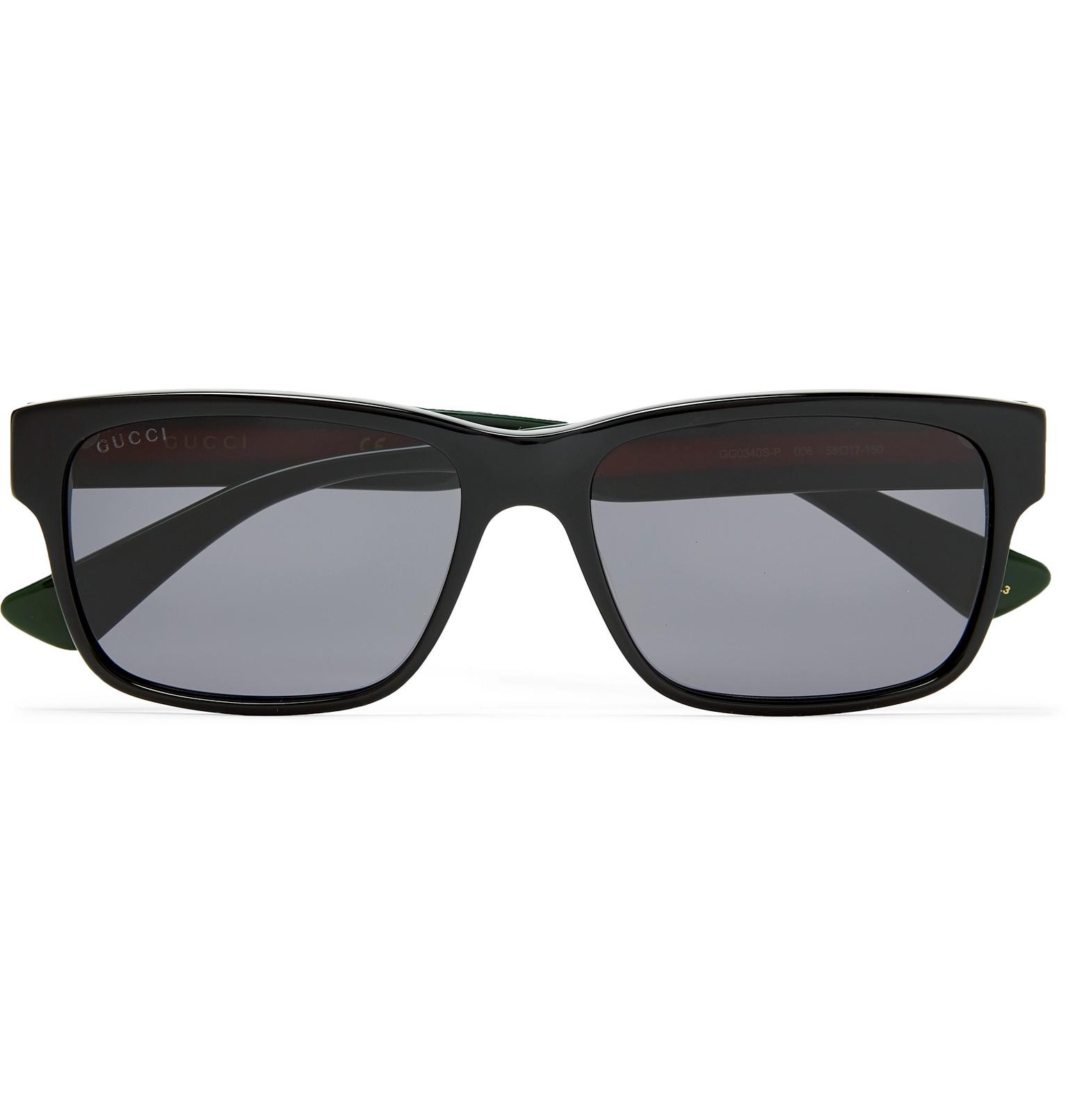 bdde89bb1057 Gucci - Square-Frame Striped Acetate Sunglasses