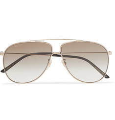 Gucci Aviator-Style Gold-Tone Sunglasses
