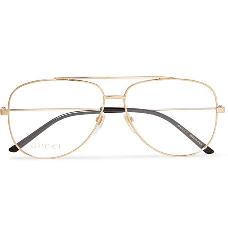 2abcbd5fe Gucci - Aviator-Style Gold-Tone Optical Glasses