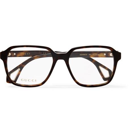 97dba461a85 Gucci - Square-Frame Tortoiseshell Acetate Optical Glasses