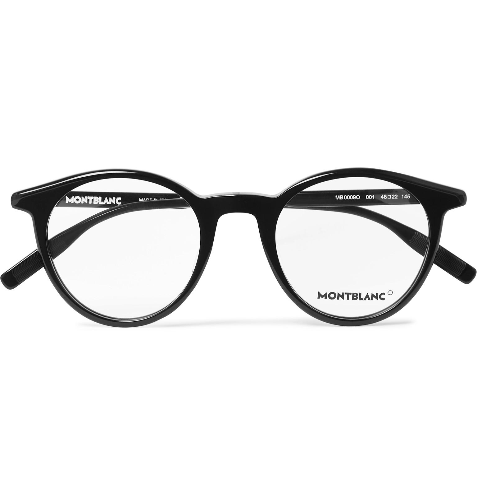 81b6e7bb0db0 Montblanc - Round-Frame Acetate Optical Glasses