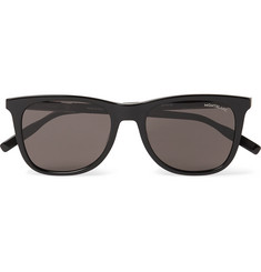 몽블랑 선글라스 Montblanc Square-Frame Acetate Sunglasses,Black
