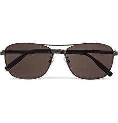 몽블랑 Montblanc Aviator-Style Gunmetal-Tone Polarised Sunglasses,Silver