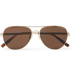 Montblanc Aviator-Style Gold-Tone Polarised Sunglasses