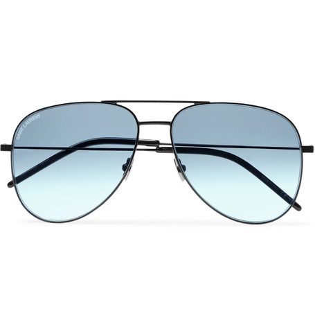 9863a6759a SAINT LAURENT - Aviator-Style Metal Sunglasses