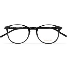 b9df76962a879 SAINT LAURENT - Round-Frame Acetate Optical Glasses