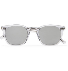 Saint Laurent D-Frame Acetate Mirrored Sunglasses