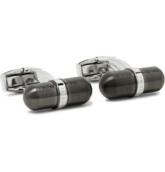 TATEOSSIAN Gunmetal-Tone Stainless Steel Cufflinks