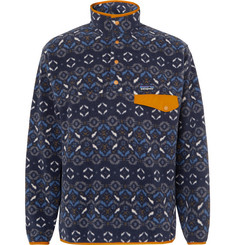 Patagonia Snap-T Nylon-Trimmed Synchilla Fleece Sweatshirt