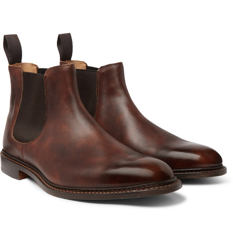Roxbury Leather Chelsea Boots - Brown