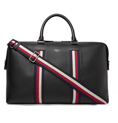Mulberry Webbing-Trimmed Full-Grain Leather Briefcase
